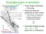 example event in emulsion