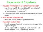importance of x systems