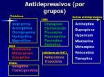antidepressivos por grupos
