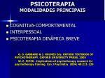 psicoterapia modalidades principais