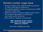 random number usage issue