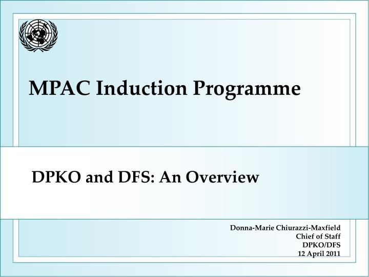 dpko and dfs an overview n.