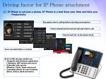 driving factor for ip phone attachment2