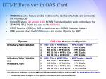 dtmf receiver in oas card