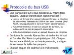 protocole du bus usb