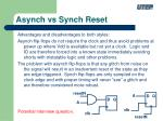 asynch vs synch reset