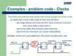 examples problem code clocks1