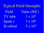 typical field strengths