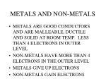metals and non metals1