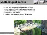 multi lingual access