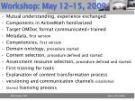 workshop may 12 15 2009