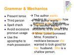 grammar mechanics