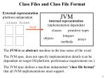 class files and class file format