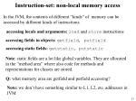 instruction set non local memory access