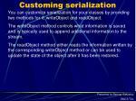 customing serialization