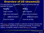 overview of i o streams 2