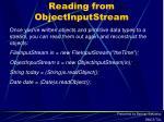reading from objectinputstream