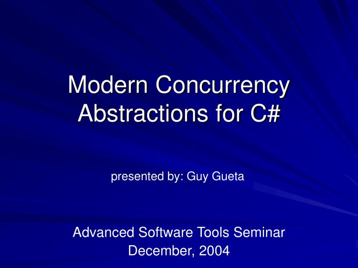 modern concurrency abstractions for c n.