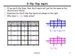 d flip flop inputs1