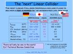 the next linear collider1