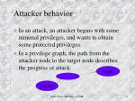 attacker behavior