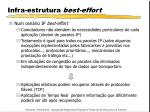 infra estrutura best effort1