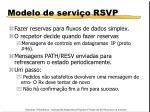 modelo de servi o rsvp