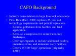 cafo background