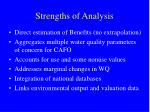 strengths of analysis