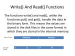 write and read functions