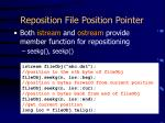 reposition file position pointer