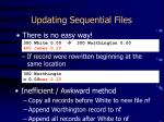 updating sequential files