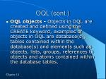 oql cont