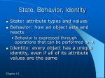state behavior identity