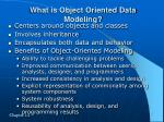 what is object oriented data modeling