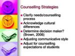 counselling strategies