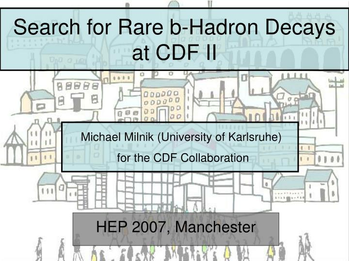 search for rare b hadron decays at cdf ii n.