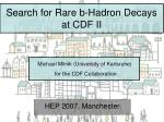 search for rare b hadron decays at cdf ii
