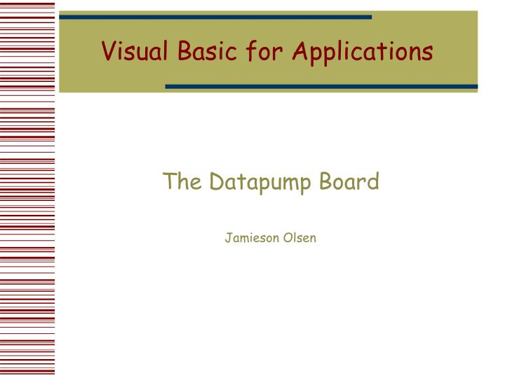 visual basic for applications n.