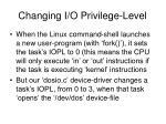 changing i o privilege level