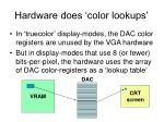 hardware does color lookups