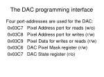 the dac programming interface