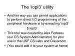 the iopl3 utility