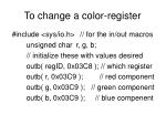 to change a color register