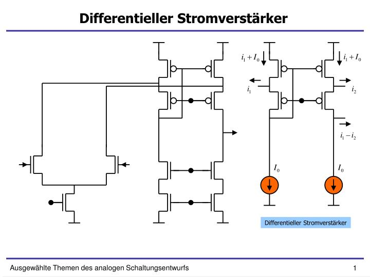 differentieller stromverst rker n.