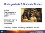undergraduate graduate studies