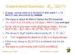 experimental summary d sj 2317