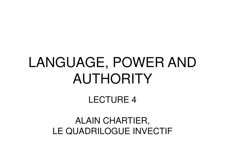language power and authority n.