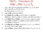cc correctness 2 o p o w co t p