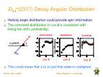 d sj 2317 decay angular distribution